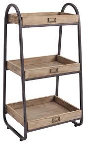 Rustic Industrial Bathroom - three tiered bath stand 17 25w x 13 5d x 32 5h rustic brown