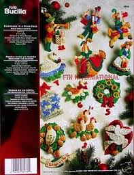 bucilla 12 days of felt ornament kit 86066 partridge