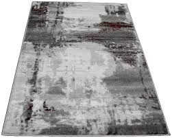 White And Gray Rugs Gray Abstract Rug With Red Stripes 5 U0027 Runner U2013 Authenturkish