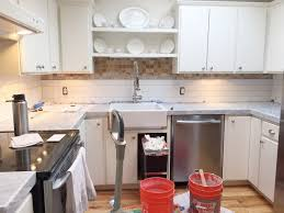 Kitchen Countertops And Backsplashes Remodelaholic Kitchen Mini Makeover With Affordable Tiled Diy