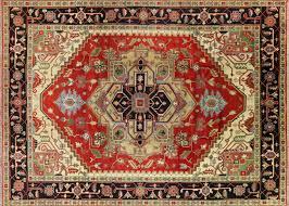 10 u0027x14 u0027 heriz serapi red black border geometric hand knotted wool