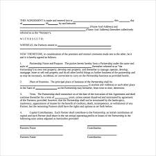 sample general partnership agreement 11 documents in pdf word