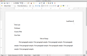 how to write a mla format paper mla format using libreoffice mlaformat org