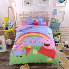 Peppa Pig Bed Set qoo10 peppa pig bed sheet set includes quilt cover bedsheet
