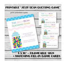 baby shower guessing printable jelly bean baby shower guessing print it baby