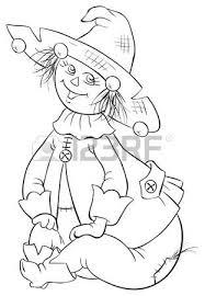 scarecrow wizard oz cartoon illustration royalty free cliparts