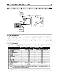 troubleshooting tachometer compatibility list msd 5520 street