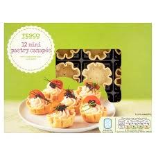 mini canape tesco mini pastry canapes 12s 45g groceries tesco groceries