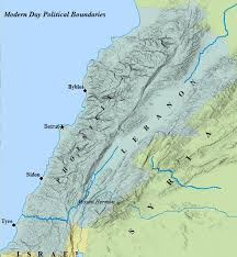 political map of israel map of lebanon