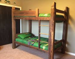 Barnwood Bunk Beds Barnwood Bunk Bed Etsy