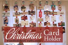 christmas card holder ribbon christmas card holder