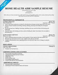 Health Care Aide Resume Sample by Home Health Aide Resume Objective