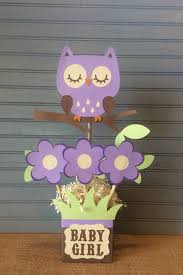 owl centerpieces purple owl baby shower centerpiece by noonelikeyou on etsy