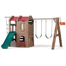 naturally playful adventure lodge play center kids swing set step2