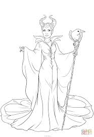 maleficent coloring page free printable coloring pages