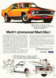 ford mustang ads 1970 ford mustang mach 1 ad cars today