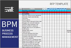 Business Process Requirements Template business process management bpm rfi rfp template bpi the