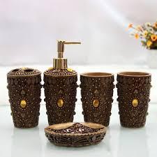 5pcs morocco bathroom accessories set bath resin cup soap dish