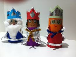 3 wise men made with toilet roll xmas easy craft for kids