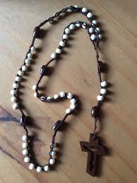crocheted rosary with bone beads rosaries rosary gotta love