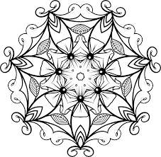 clipart black and white floral design 5