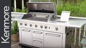 kenmore 5 burner gas grill with refrigerator youtube