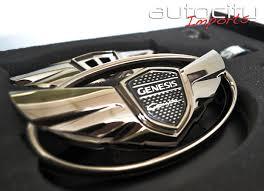 hyundai genesis coupe badge 2010 hyundai genesis coupe wing emblem kit gunmetal sport