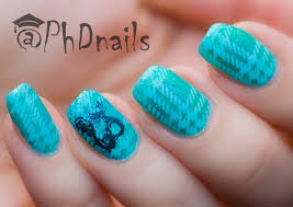 phd nails 40 great nail art ideas turquoise plaid nail design