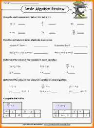 9 basic algebra worksheets letterhead template sample