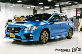 blue subaru wrx 2014 subaru wrx in satin blue phenomenalvinyl
