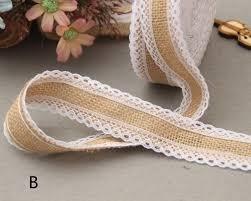 burlap and lace ribbon aliexpress buy 5m jute burlap rolls hessian lace
