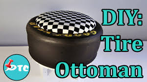 how to recycle your old tire into a diy ottoman youtube