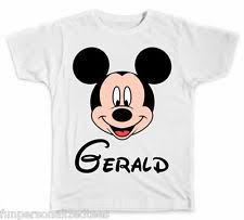 personalized mickey mouse shirt ebay