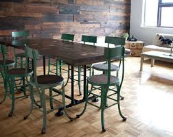 Industrial Style Dining Room Tables Circular Industrial Table Round Wooden Dining Table With
