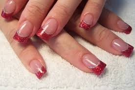 17 red tip nail designs red french tip nail designs pinterest