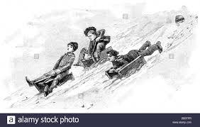 sledging black and white stock photos u0026 images alamy