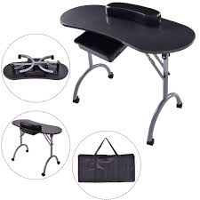 manicure nail table station giantex portable manicure nail table station desk spa beauty salon