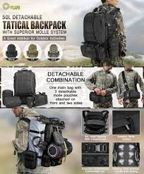 Backpack Rack For Home Amazon Com Cvlife Outdoor 50l Military Rucksacks Tactical