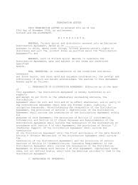 Notice Of Termination Agreement by Termination Letter