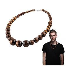 wood beaded necklace images Wood bead necklace evbea africa wooden chain statement jpg