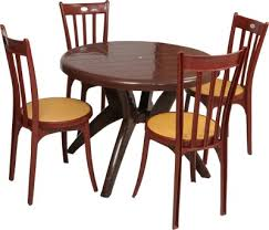 plastic round table and chairs buy supreme amber gold plastic table chair set at best price in