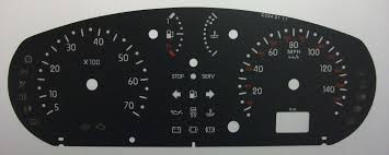 renault clio kmh to mph speedo meter clocks dials