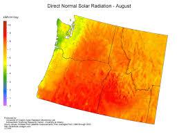 Map Of Oregon And Washington by Uo Srml Northwest Solar Resource Maps