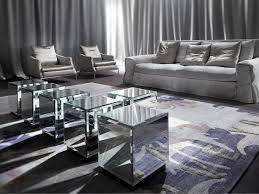 cube mirror side table five cube mirrored coffee tables