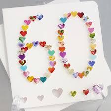 birthday card for 60 year woman handmade 3d 60 card 60th birthday card 60th anniversary card