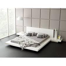 Amazon Com Fujian Modern Platform Bed 2 Night Stands King