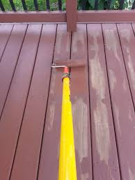 applying behr deck over to a wood deck small change in my deck