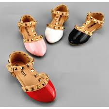 patent leather studded sandals baby luna boutique