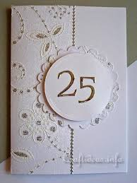 greeting card to craft silver wedding anniversary card