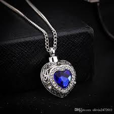 blue sapphire silver necklace images Wholesale 925 silver plated blue sapphire heart pendant necklace jpg